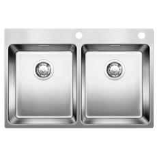 Blanco Andano 340/340-IF-A нерж. сталь зеркальная полировка с кл.-авт. InFino® 522997
