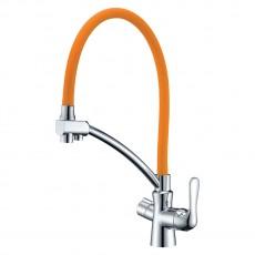 Lemark LM3070C-Orange Комфорт См. для кухни с гибким изл, с подключ к фильтру,хром, излив оранжевый, шт N.9.03.04.30-LM3070C-Orange