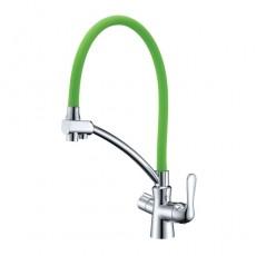 Lemark LM3070C-Green Комфорт См. для кухни с гибким изл, с подключ к фильтру,хром, излив зеленый, шт N.9.03.04.30-LM3070C-Green